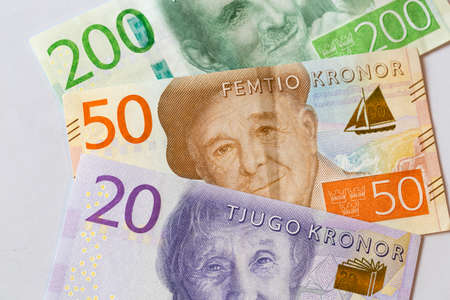 Swedish Currency New 20, 50, 200 note