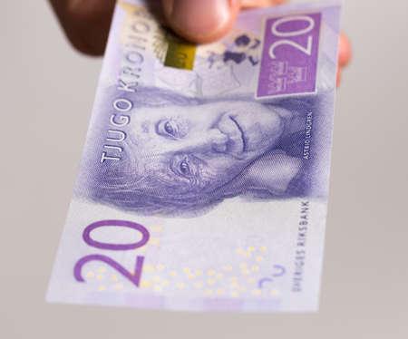 Swedish 20 kronor Note close up