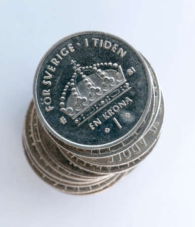 Swedish One Coins Stacked