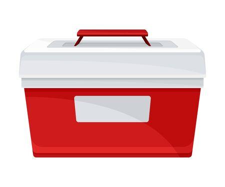 Illustration pour Portable Fridge or Cooler for Transporting Donor Organs Vector Illustration - image libre de droit