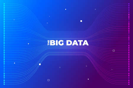Illustration pour Big data visualization. Visual data complexity analytics. Concept design infographic. Information line graphic representation. Abstract data graph. Vector Illustration - image libre de droit