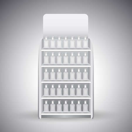 Retail Store Shelf display vector