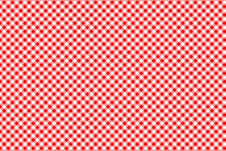 Ilustración de Red Gingham pattern. Texture from rhombus/squares for - plaid, tablecloths, clothes, shirts, dresses, paper, bedding, blankets, quilts and other textile products. Vector illustration. - Imagen libre de derechos
