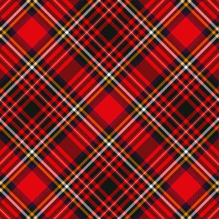 Photo pour Tartan plaid red and black seamless checkered vector pattern. Vector EPS 10 - image libre de droit