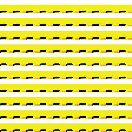 Illustration pour Vector seamless pattern texture background with geometric shapes, colored in yellow, black and white colors. - image libre de droit