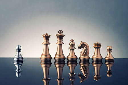 Photo pour Leadership Concept of chess - image libre de droit