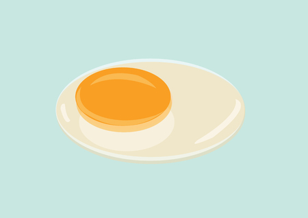 Raw Egg with Yolk and Albumen. Vector Illustration