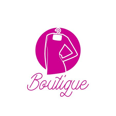 Illustration for fashion boutique logo with text space for your slogan / tagline, vector illustration - Royalty Free Image