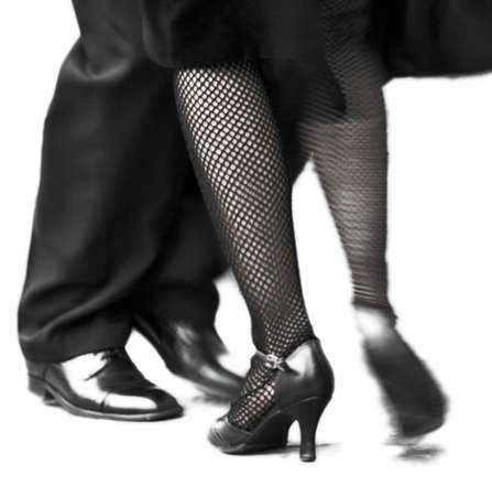 Movement of two Tango dancers in La Boca, Buenos Aires Argentina