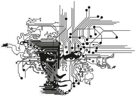 circuit boards face