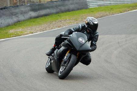 motorbike racing on circuit