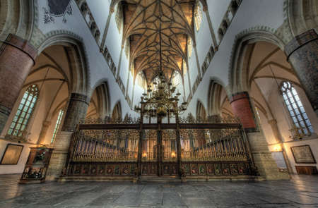 Hdr photo inside church (St bavo or grote kerk Haarlem, Netherlands