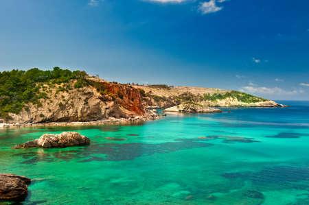 Cala Xarraca, a beautiful small bay in Ibiza Spain