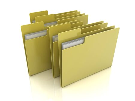 Selected folder icon with files