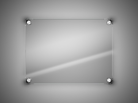 Photo for Glass frame on the wall - Royalty Free Image