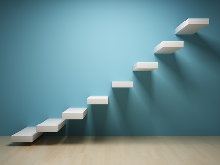 Abstract steps up in interior