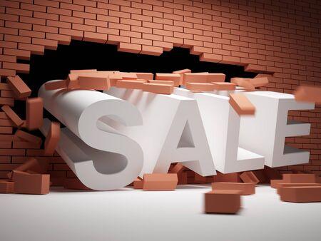 Brick wall collapsed big sales