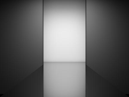 Foto de Empty fashion runway illuminated - Imagen libre de derechos