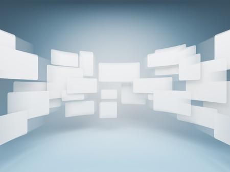 Foto de Gallery empty squares - Imagen libre de derechos