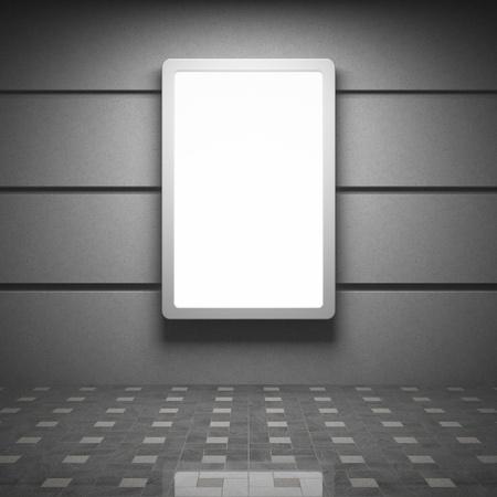 Photo pour Blank advertising billboard in interior - image libre de droit