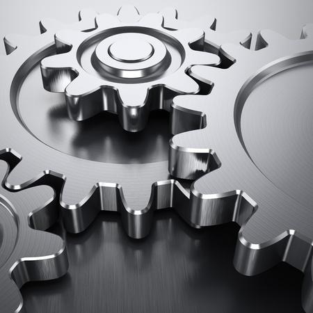 Photo pour Gear wheels on metal surface - image libre de droit