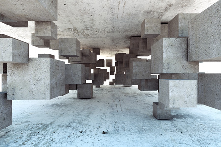 Photo for Abstract geometric background of concrete cubes - Royalty Free Image