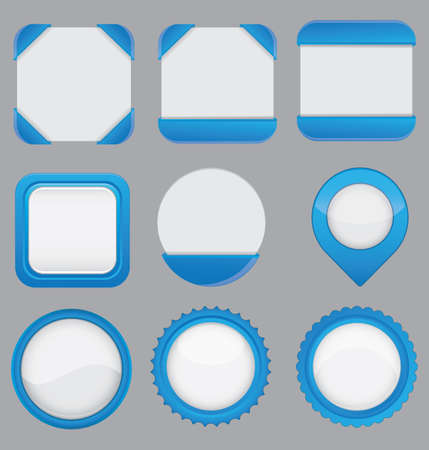 Set of copy space web elements for design -  buttons