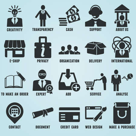 Set of marketing internet and service icons - part 1 - vector icons