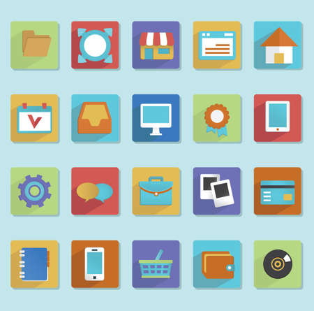 Flat icons for web design - part 1 - vector icons