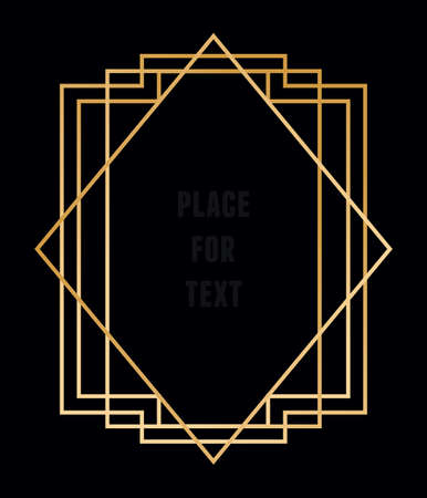 Illustration for Vector trendy geometric frame for text. Line style - vector element - Royalty Free Image