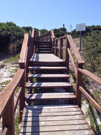 Wooden staircase leading to the beach