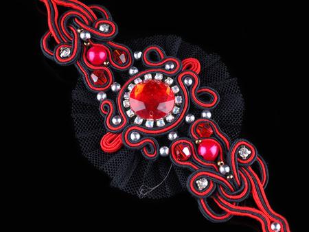 pendant handmade on a black background