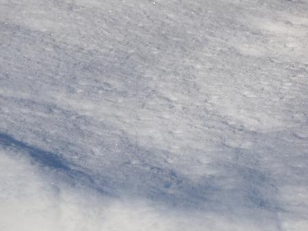 white snow in winter