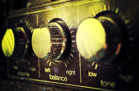 Grunge old amplifier