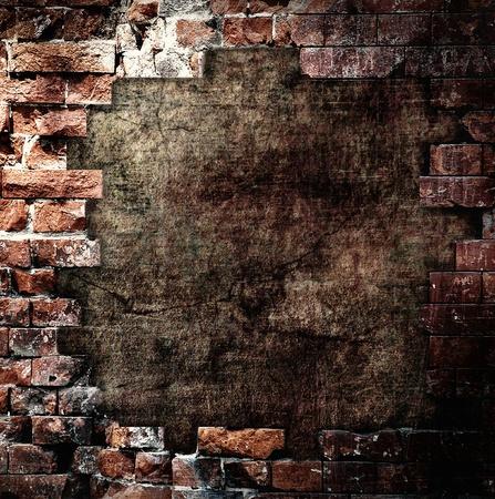Photo pour Damaged wall, grunge background - image libre de droit