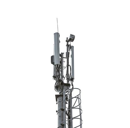 Telecommunication tower isolated on white