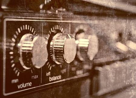 Old amplifier, grunge background