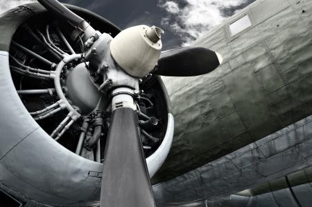 Old aircraft close up