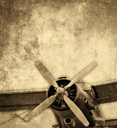 Photo pour Biplane vintage background - image libre de droit