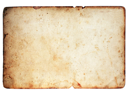 Foto de Blank paper texture isolated on white background - Imagen libre de derechos