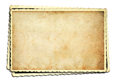 Photo for Old photo frame on white background - Royalty Free Image