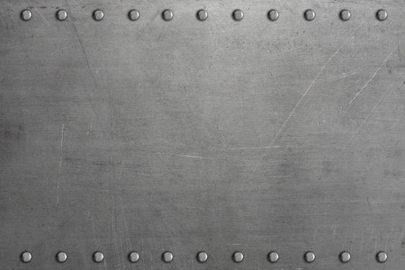Photo for Riveted metal plate - Royalty Free Image