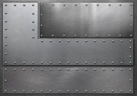 Photo pour Metal frame on steel background, grunge background - image libre de droit