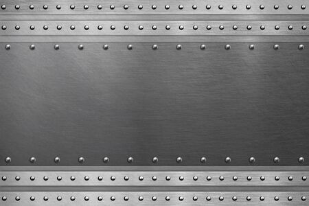 Photo pour Metallic background, polished steel plate - image libre de droit