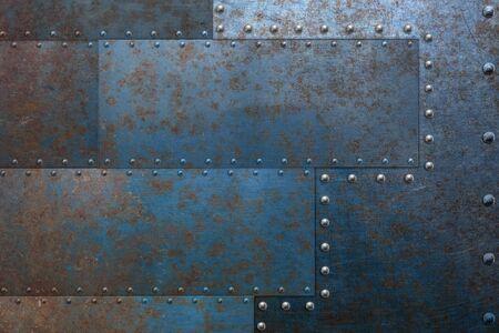 Photo pour Rusty grunge metal frame, industrial - image libre de droit
