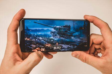 Photo for Los Angeles, California. FEBRUARY 21, 2019 screensaver world of tanks blitz - Royalty Free Image