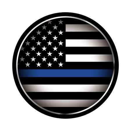 Ilustración de An American flag icon law enforcement support flag. Vector EPS 10 available. - Imagen libre de derechos