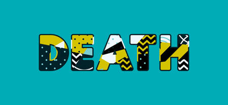 The word DEATH concept written in colorful abstract typography. Vector EPS 10 available.