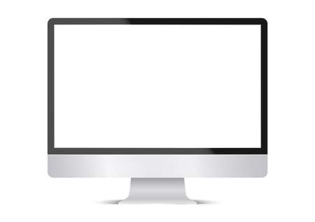 Illustration pour computer display isolated on white background. blank monitor. Vector illustration - image libre de droit