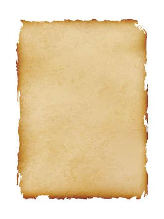 Illustration pour old paper sheet vintage isolated on white background, vector illustration - image libre de droit